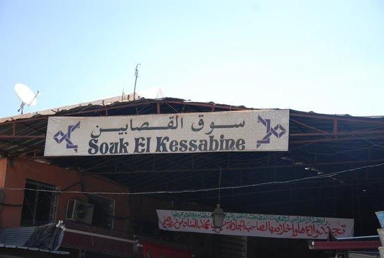 Suq von Marrakesch: Sign