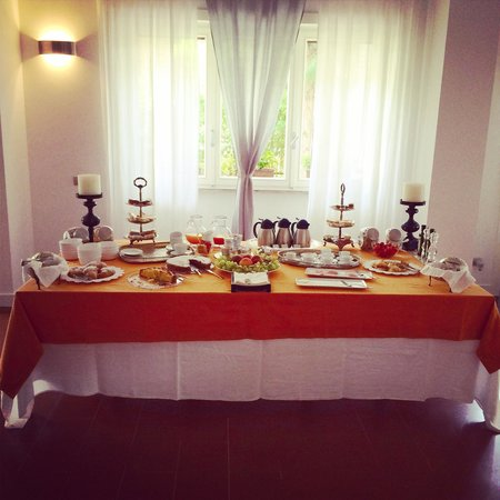 Five Rooms B&B: Colazione dentro quando piove