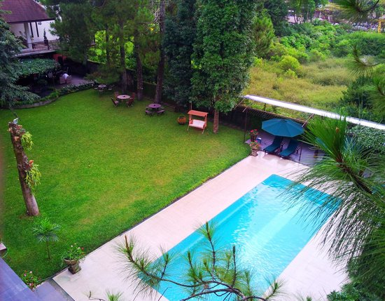 The Pool And Small Garden Viewed From Rooftop Picture Of