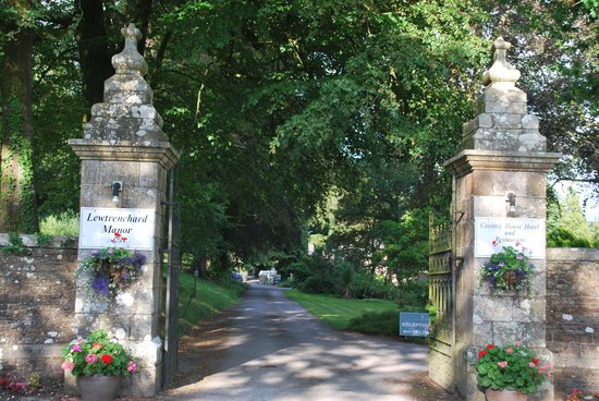 Lewtrenchard Manor: The entrance
