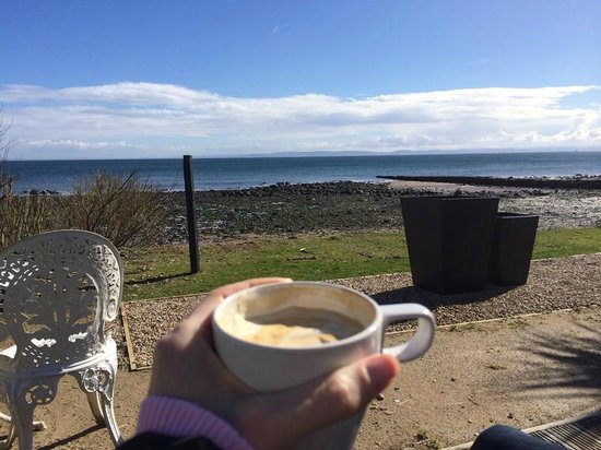 a perfect morning coffee on Coast's deck.