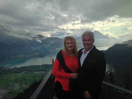 Harder Kulm: out on the overhanging viewing platform