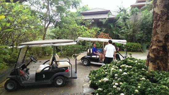 Katiliya Mountain Resort & Spa : Shuttle from lobby to room