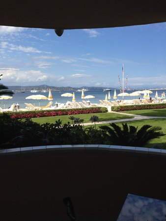 Hotel La Residence de la Pinede: Blick vom Zimmer Richtung Strand