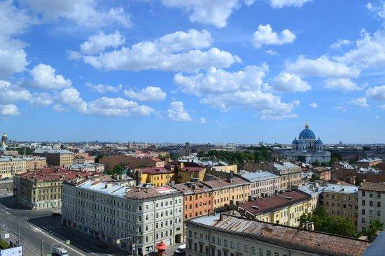 AZIMUT Hotel Saint Petersburg : Вид из номера SMART 13 этаж