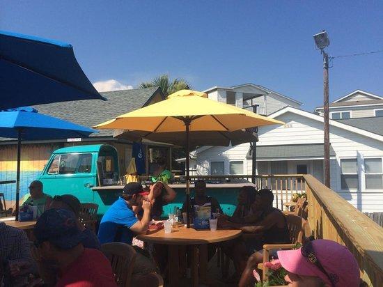 Loggerhead's Beach Grill: On the deck!!!