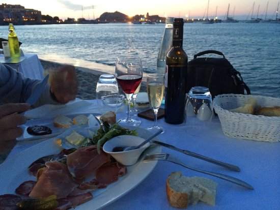 Restaurant le Marinella : Au top / assiette de charcuterie