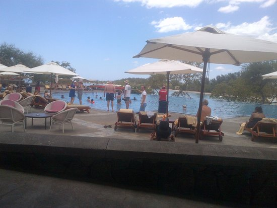 Club Med La Plantation d'Albion : Pic of the main pool with all the kids entertainment