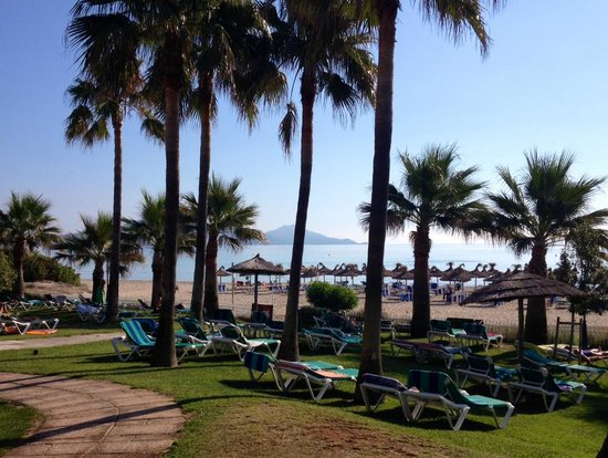 Hotel Playa Esperanza: Vue sur la plage depuis les transats de la piscine
