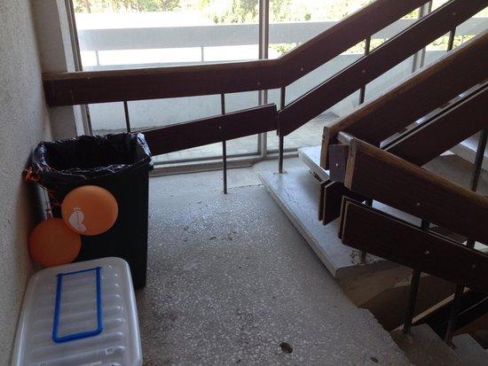 Semarah Hotel Lielupe: Treppenaufgang des 4 Sterne Hotels...