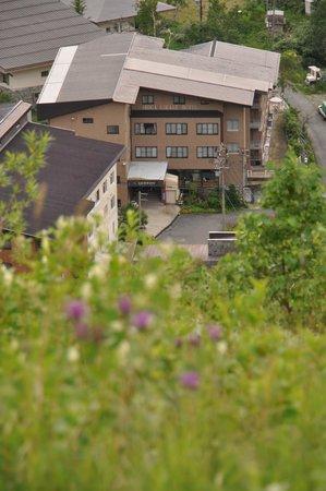 Shiga Kiraku Hotel: 前山から