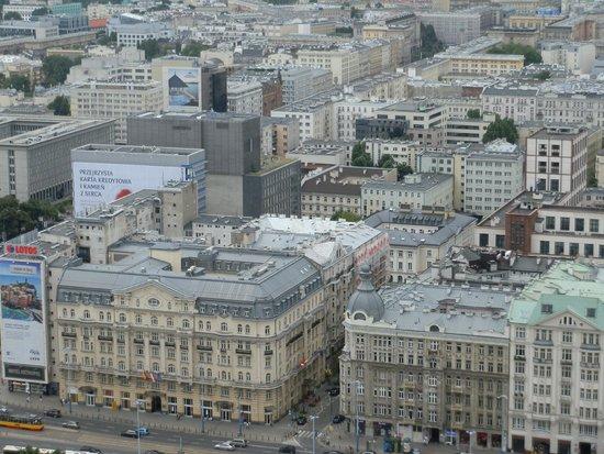 Polonia Palace Hotel : Hotel visto desde lel mirador del Palacio de Cultura