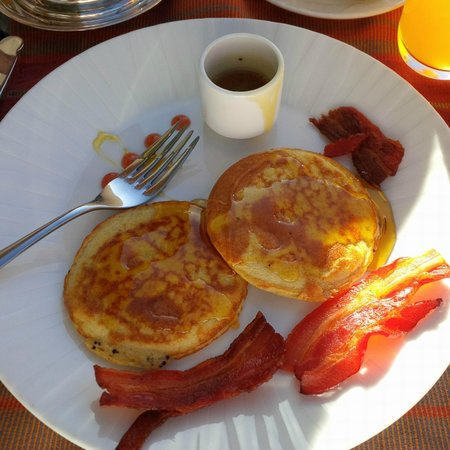 Belmond Palacio Nazarenas: Quinoa pancakes on the terrace
