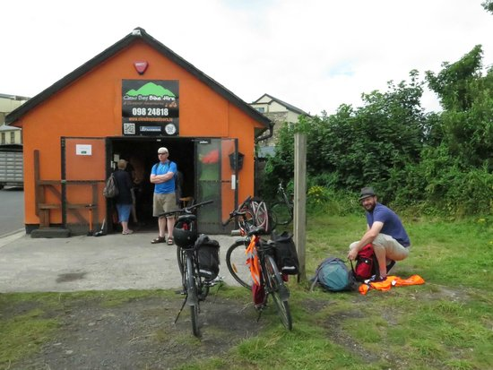 Clew Bay Bike Hire and Outdoor Day Adventures : Picking up the bikes in Newport