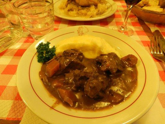 Restaurant Polidor : Boeuf bourguignon