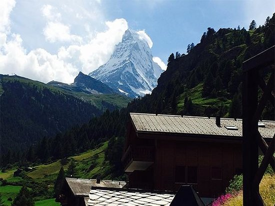 The Matterhorn: Just after we passed the quaint village of Zmutt.