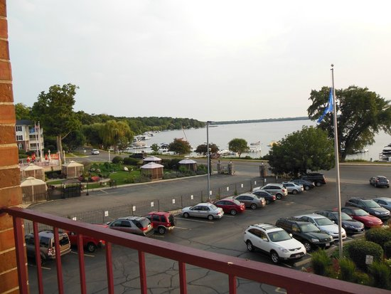 Harbor Shores on Lake Geneva: View from room balcony to side