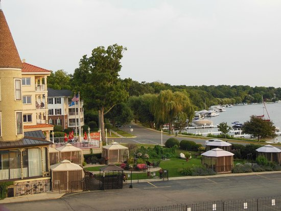 Harbor Shores on Lake Geneva: View from room past Baker House & Belle Vista Suites