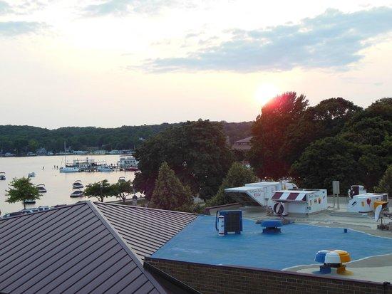 Harbor Shores on Lake Geneva: View from room toward town