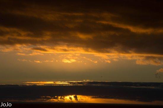 Sol La Palma Hotel : zonsondergang vanaf je balkon