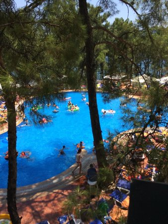 Grand Yazici Club Marmaris Palace: main pool view from restaurant