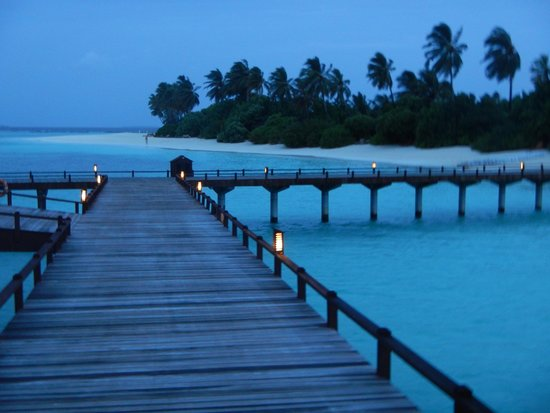 The Sun Siyam Iru Fushi Maldives: am Abend