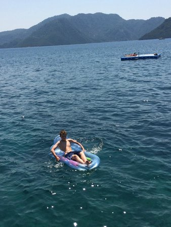 Grand Yazici Club Marmaris Palace: private sea swim area and pontoons
