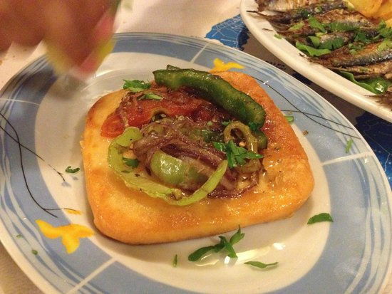 Alkyona Sunset Restaurant: Fried haloumi