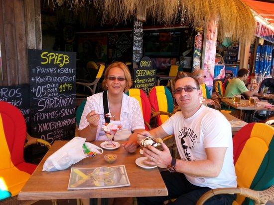 jamaica: Meine Frau und ich beim Nachtisch