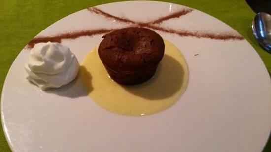 Le Restaurant L'O a la Bouche : moelleux au chocolat