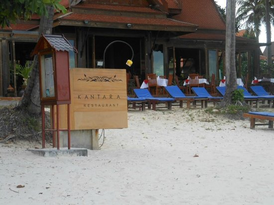 Blue Lagoon Hotel : VIEW OF RESTAURANT FROM THE BEACH