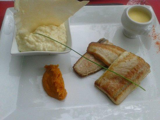Bistrot des Girondins : Filets d'esturgeon du menu du jour et son risotto crémeux