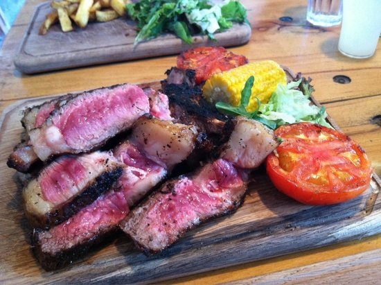 Balgove Larder: One person's portion of côte de boeuf, cooked medium rare