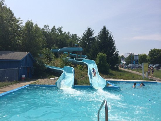 Trenton, ME: Water slides