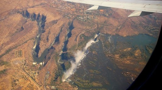 Shackletons: Vic Falls from the plane