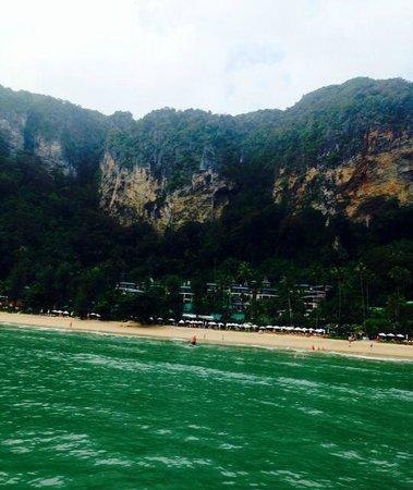 Centara Grand Beach Resort & Villas Krabi: View of the resort from the shuttle boat