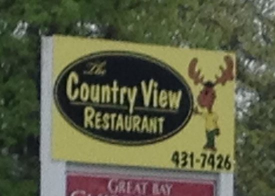 The Country View Restaurant & Pub CVR : Easy to find on Route 33 in Greenland NH