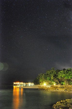 Reethi Beach Resort: Starry night!