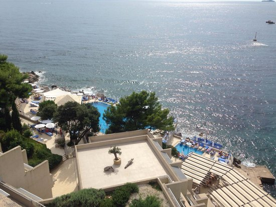 Hotel Dubrovnik Palace: View from top floor