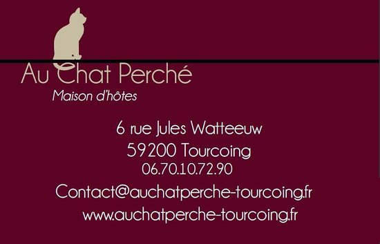 Au Chat Perche Carte De Visite