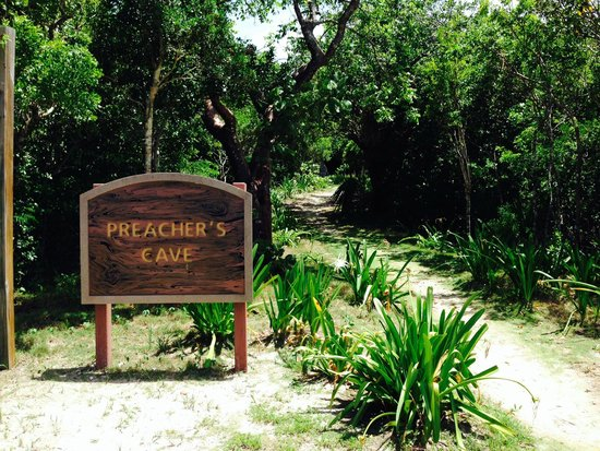 The entrance to Preacher's Cave