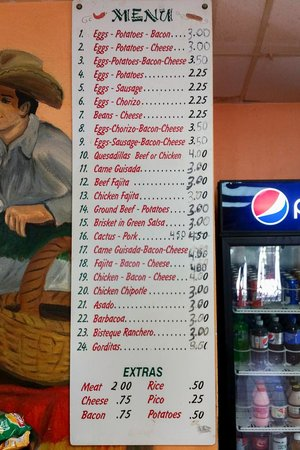 ‪‪Taqueria Chihuaua‬: Menu... Take a look and Imagine the Possibilities‬