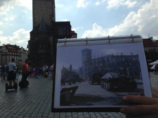 World War II in Prague Tour: Prague Town Hall - Today and 1945