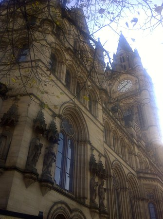 Manchester Town Hall: Part of the facade & clock tower