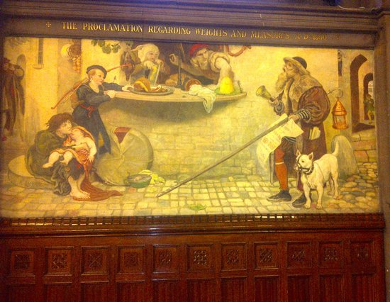 Manchester Town Hall: The 'Proclamation…AD 1556' mural