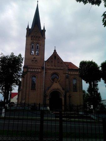 Vileyka, Weißrussland: касцел со стороны парка