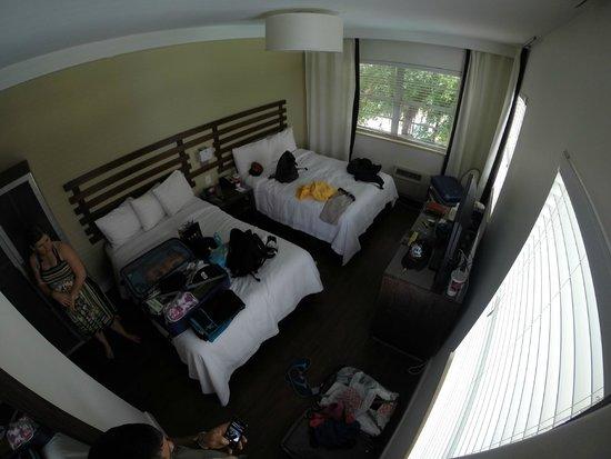 Dorchester Hotel: chambre 2 lits double pour 4 personnes