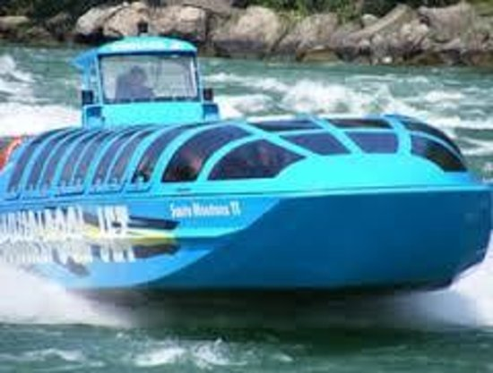 Whirlpool Jet Boat Tours: Jet Dome tour, (DRY) boring