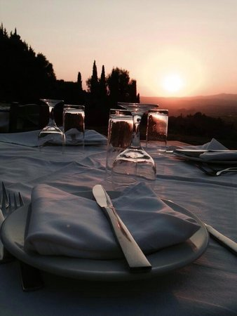 Taverna The Garden : Repas - coucher de soleil