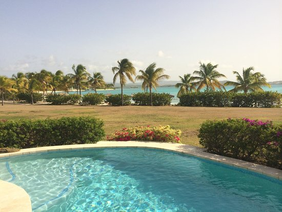 Jumby Bay Island: View from pool suite